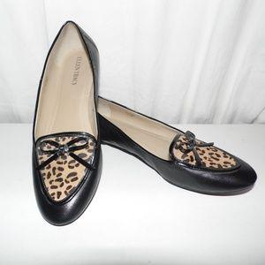 Ellen Tracy Alpine Leather Flats Shoes Size 7.5